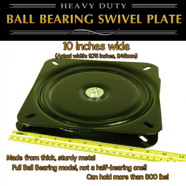 "10"" swivel plate turntable"