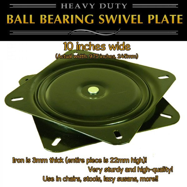 10 inch swivel plate turntable