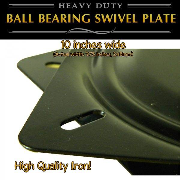 thick metal 10 swivel plate turntable full ball bearing