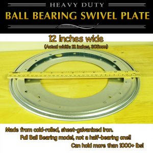 "12"" lazy susan swivel plate large thin profile"
