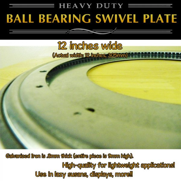 "12"" lazy susan swivel plate full ball bearing"