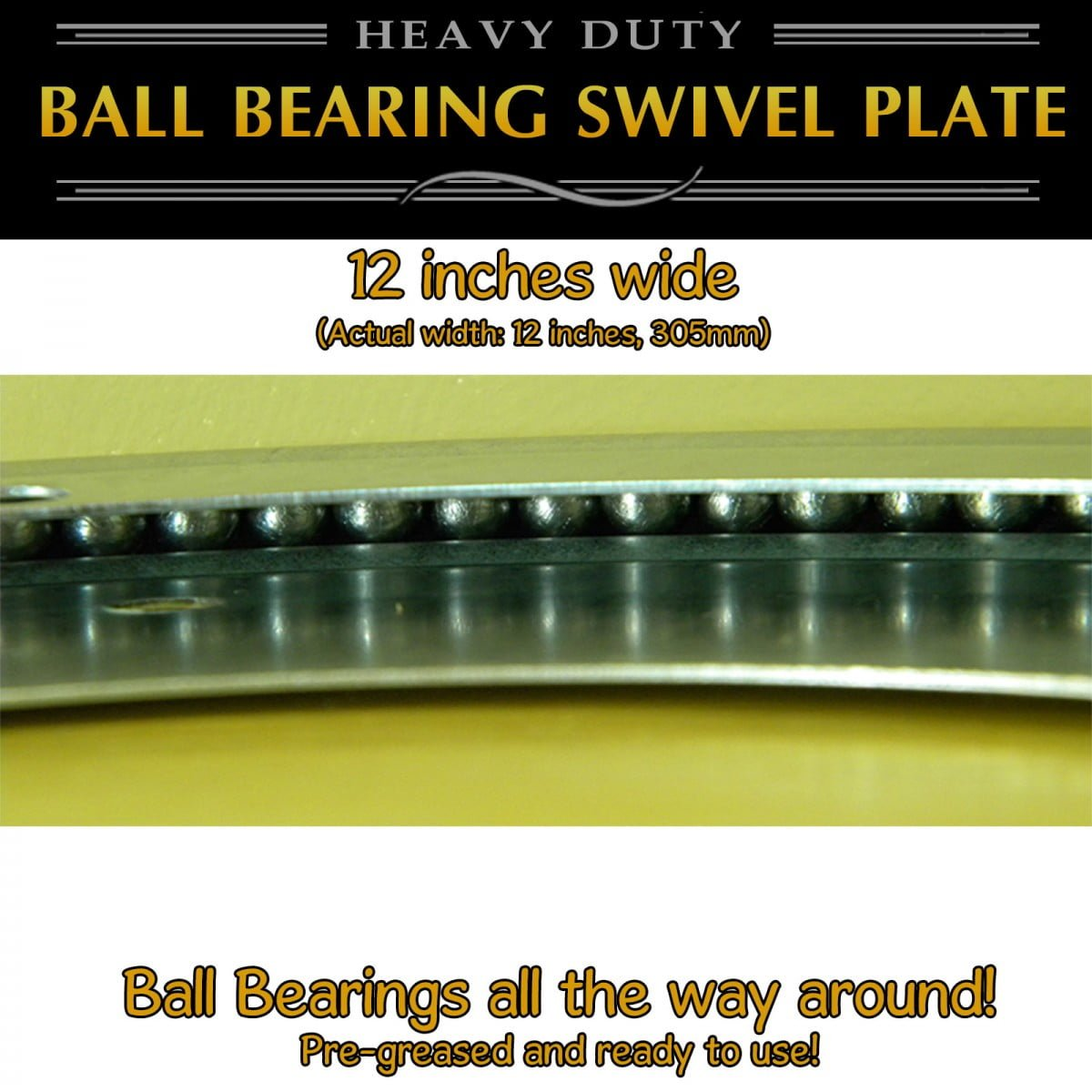 1 pc 12 inch - Full Ball Bearing Swivel Plate Lazy Susan Turntable 305mm