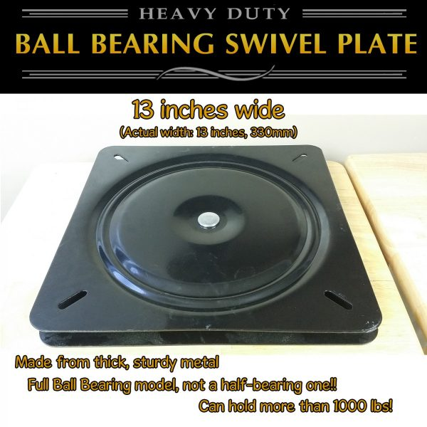 "huge 13"" swivel plate turntable"