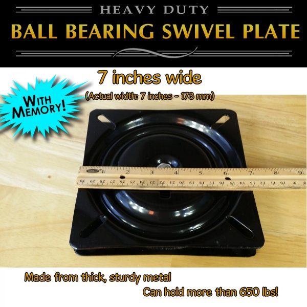 "7"" swivel plate memory return"