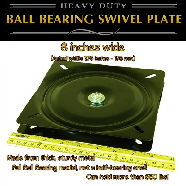 "8"" swivel plate turntable full ball bearing"