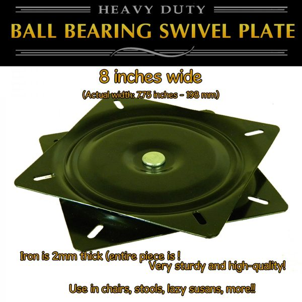 "8"" thick metal swivel plate full ball bearing turntable"