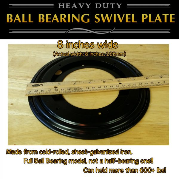 "8"" lazy susan swivel plate"