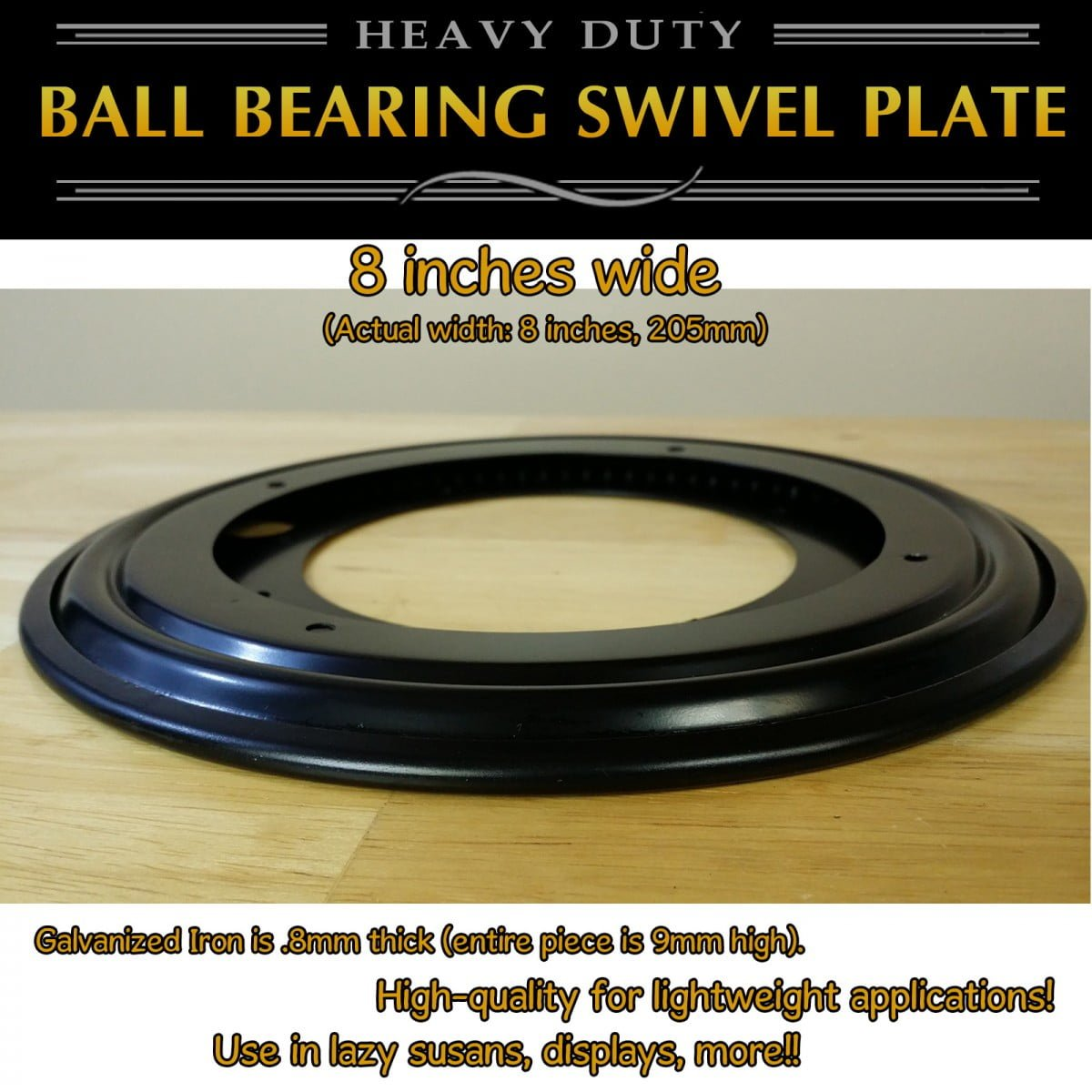 1 pc 205mm 8 inch Full Ball Bearing Swivel Plate Lazy Susan Turntable
