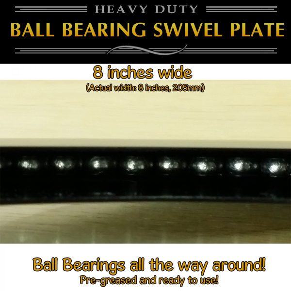 "8"" lazy susan swivel plate thin profile"
