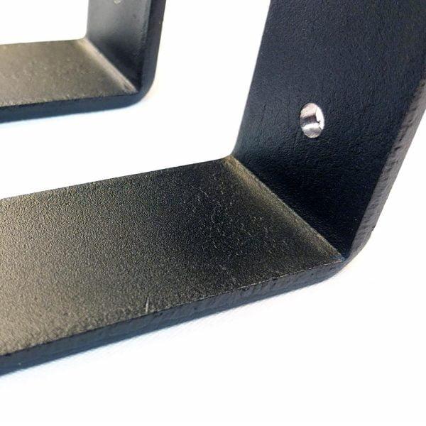 Metal Shelf Brackets for Rustic Feel